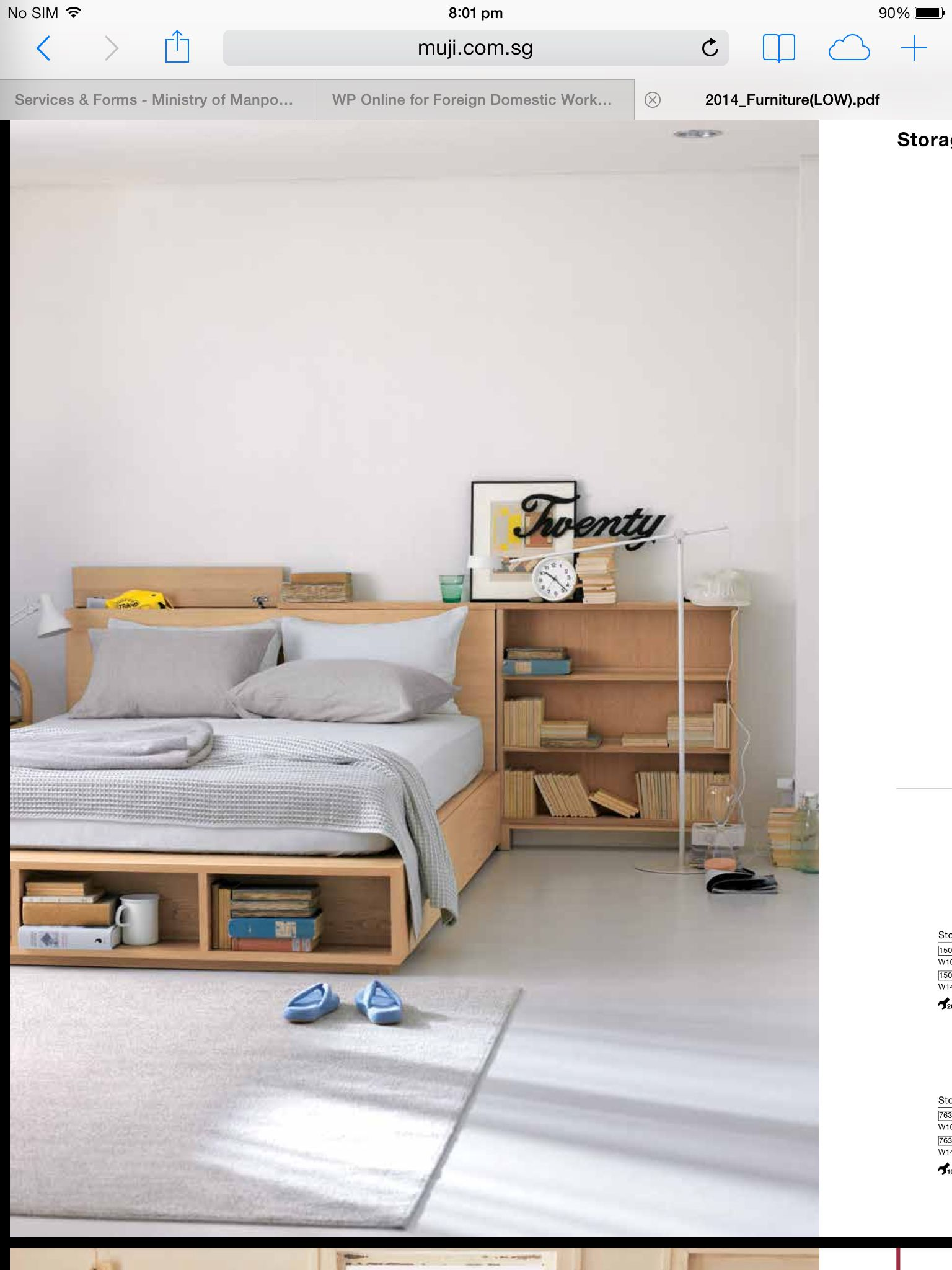 I Love Muji Furniture This Is A Low Height Bed With Built In