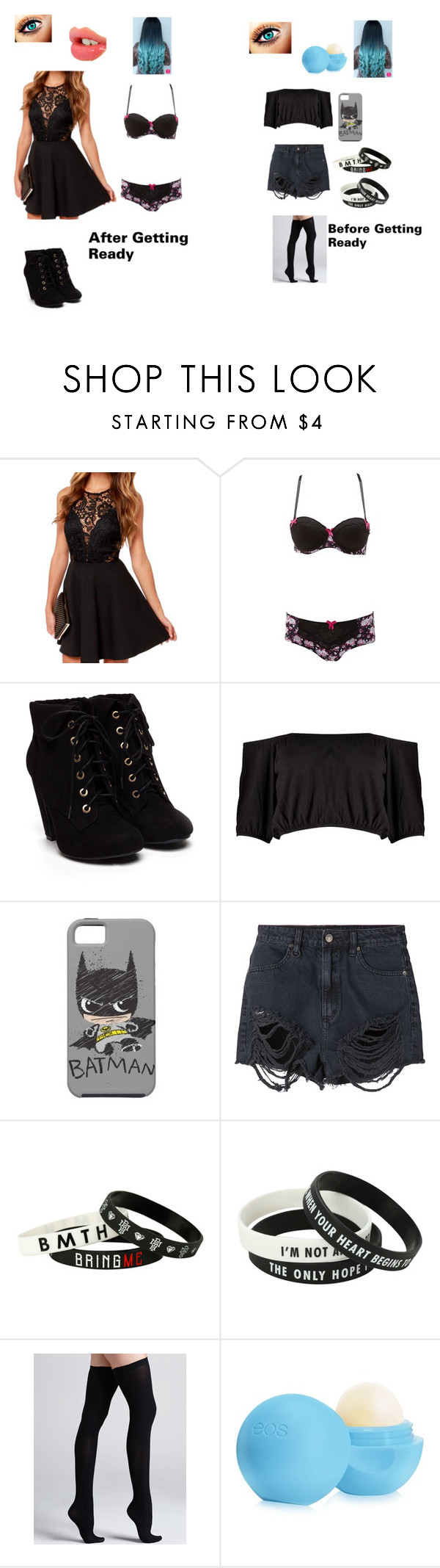 """""""Getting Ready"""" by marissaj03 on Polyvore featuring beauty, Charlotte Russe, Boohoo, Neuw, Commando, Eos and Charlotte Tilbury"""