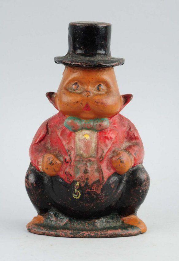Cast Iron Grandpa Rabbit in Top Hat Doorstop. : Lot 567
