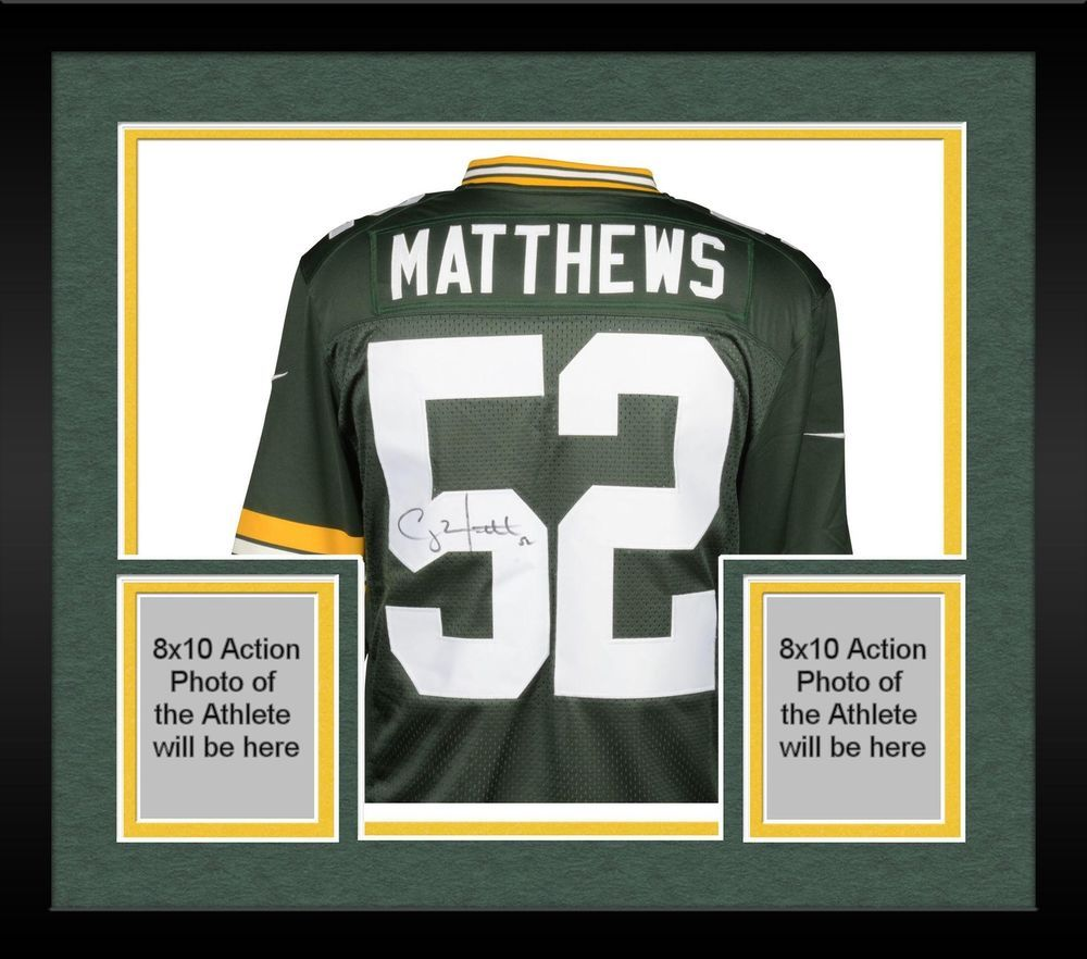 Framed Clay Matthews Green Bay Packers Autographed Nike Green Limited Jersey Sportsmemorabilia Autograph Foot Green Bay Packers Jerseys Clay Matthews Jersey