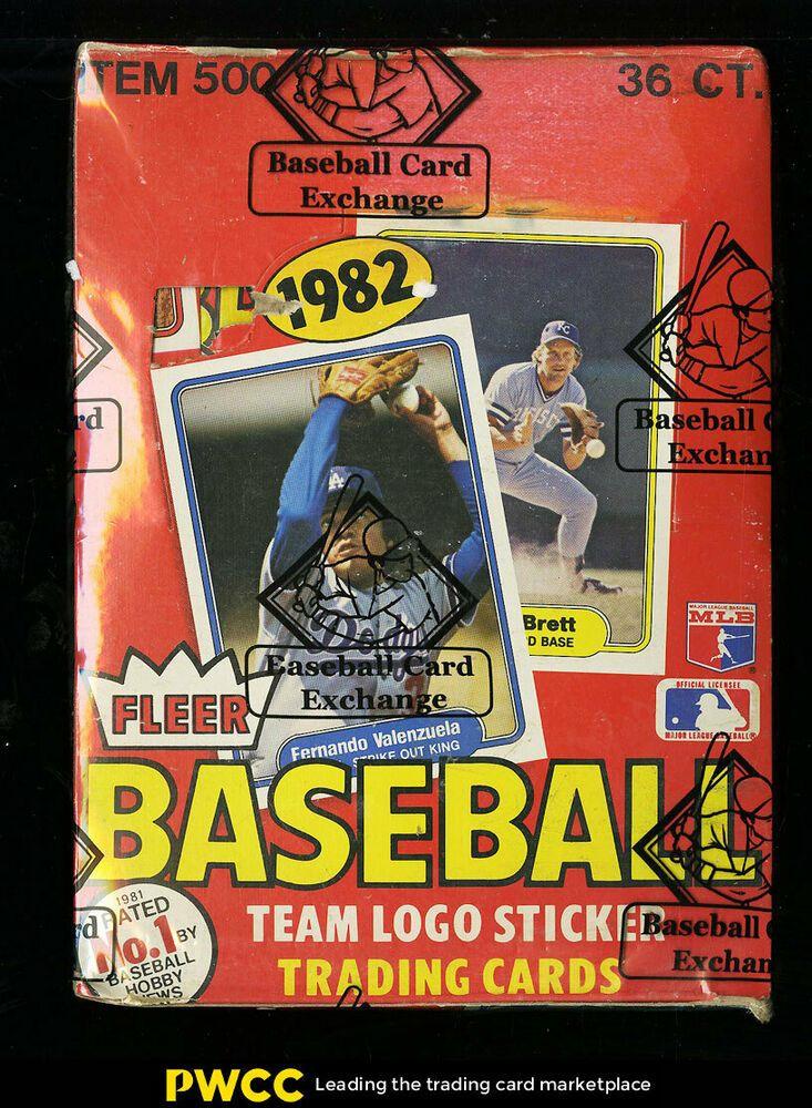 1982 fleer wax box 36ct wax packs cal ripken jr rookie