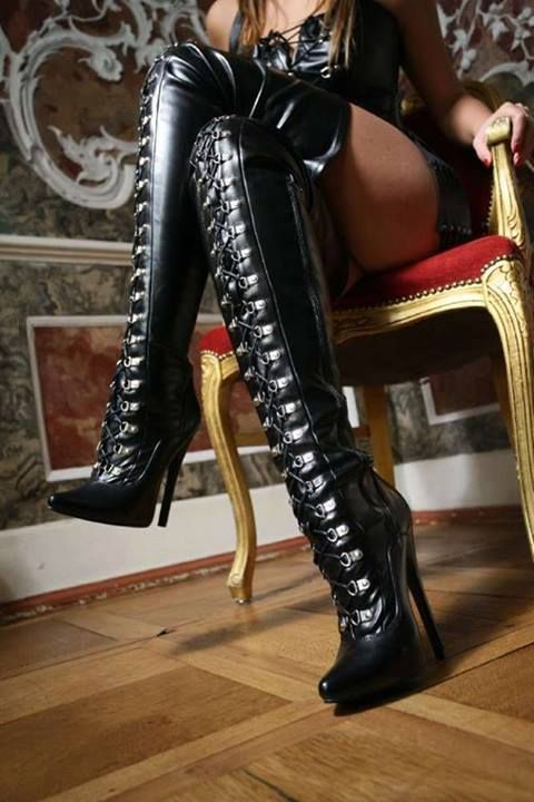 Domination boot fetish