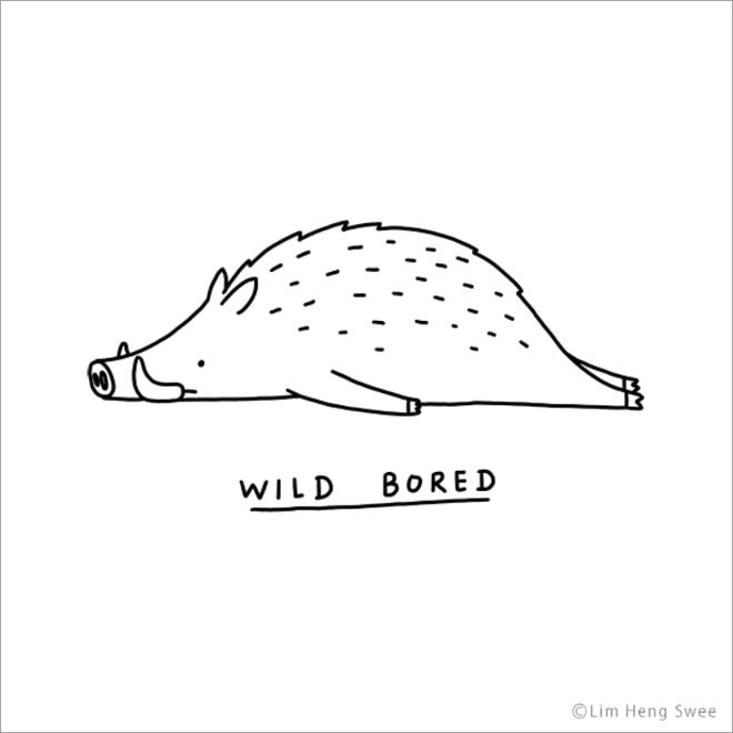 Punny Illustrations of Moody Animals