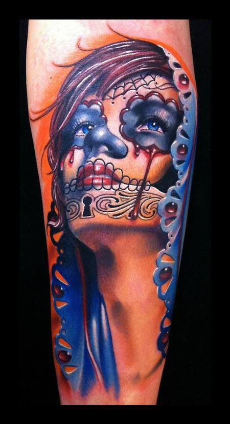 44 Day Of The Dead Tattoos Gallery Day Of The Dead Tattoos