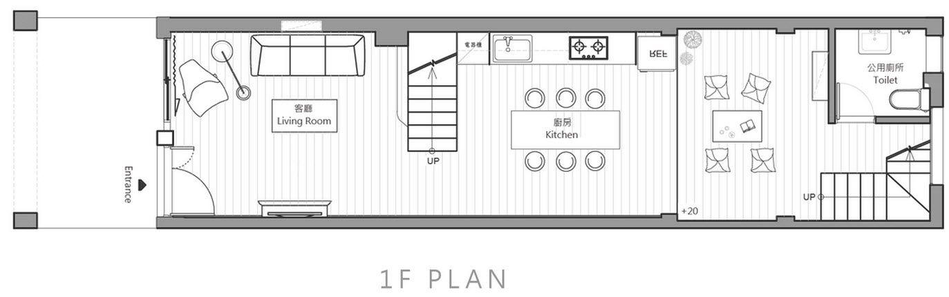 Planos de casa angosta de tres habitaciones, ideas para construir tu ...