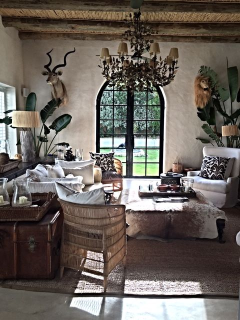 At The Beach And In Town African House Africa Decor British