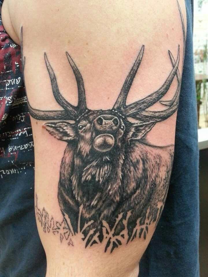 elk tattoo tattoos pinterest elk tattoo tattoo and tatto. Black Bedroom Furniture Sets. Home Design Ideas