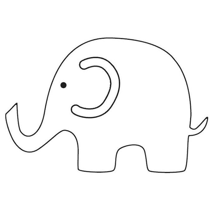 Elephant Template - Animal Templates Free  Premium Templates - elephant cut out template