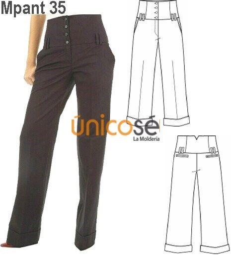 Producto Moldes De Pantalones Pantalones Elegantes Pantalones Mujer
