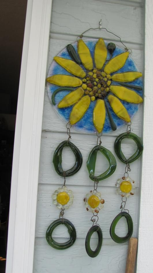 Wall Hanging Windchimes - Delphi Stained Glass Fused glass ...
