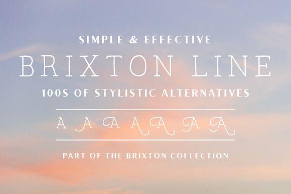 Download Brixton Line (+Stylistic Alts) | Download fonts, Font ...
