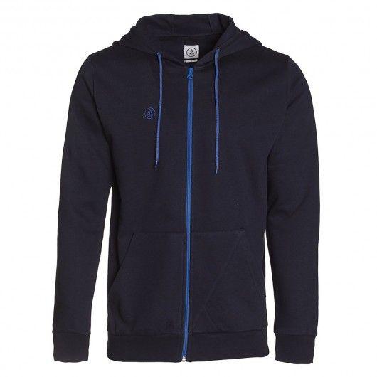 VOLCOM Youth icon zip fleece blue black sweat zippé à capuche enfants 55,00 € #volcom #skate #skateboard #skateboarding #streetshop #skateshop @playskateshop