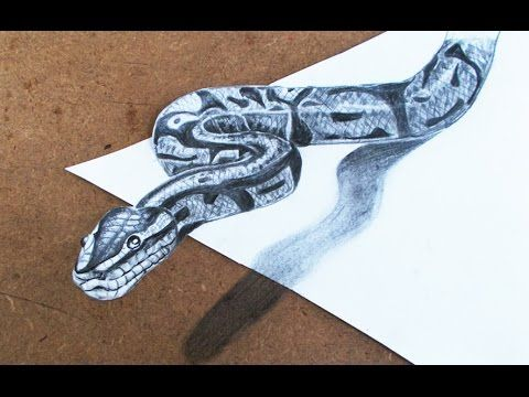 D Drawings How To Make D Snake Step By Step Pencil Drawings - 29 incredible examples 3d pencil drawings