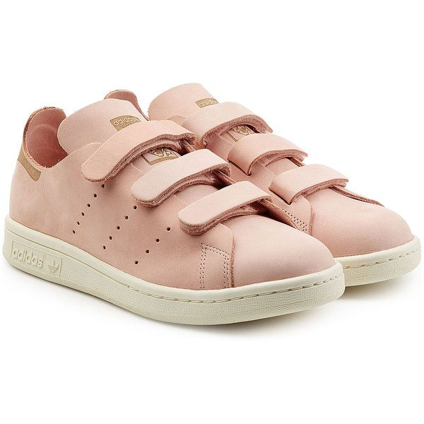 Adidas Originals Stan Smith Velcro Sneakers ($130) ? liked on Polyvore  featuring shoes,