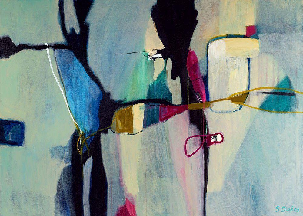 Aquatic Ways abstract painting by Sarina Diakos - sarindiakos.com
