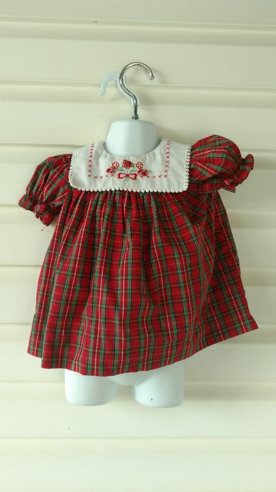 Vintage baby dress kids monthwhite collar party dress formal
