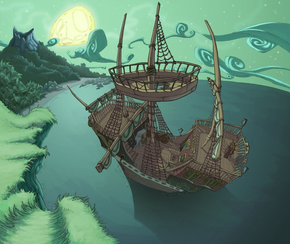 Monkey island 2 lechuck s revenge concept art the international - A Background Inspired By Bill Tiller S Art For The Curse Of Monkey Island I Love