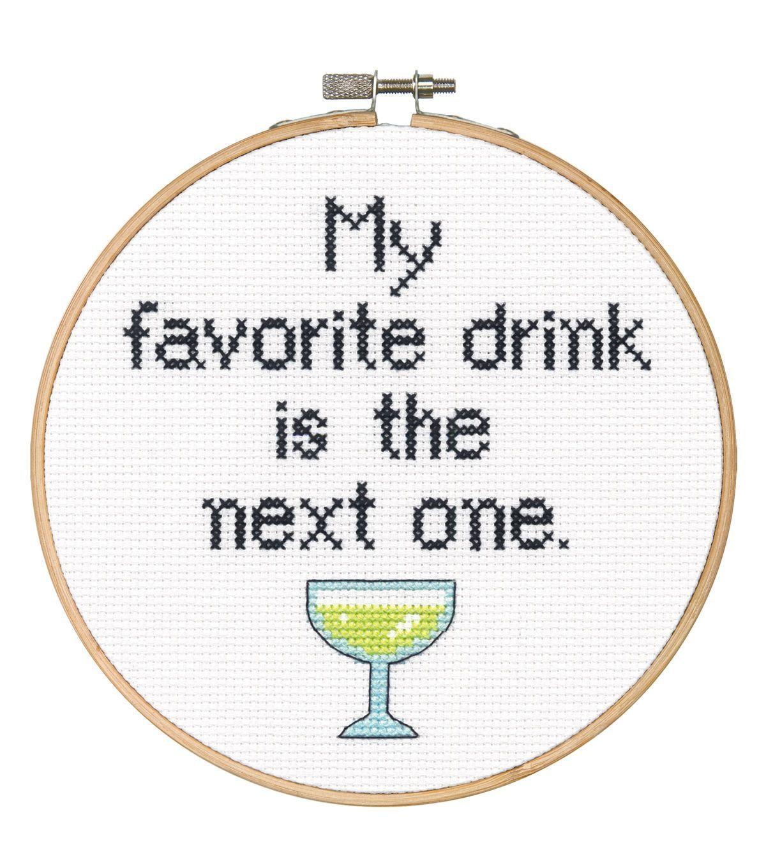 Say It! in cross stitch-Favorite Drink