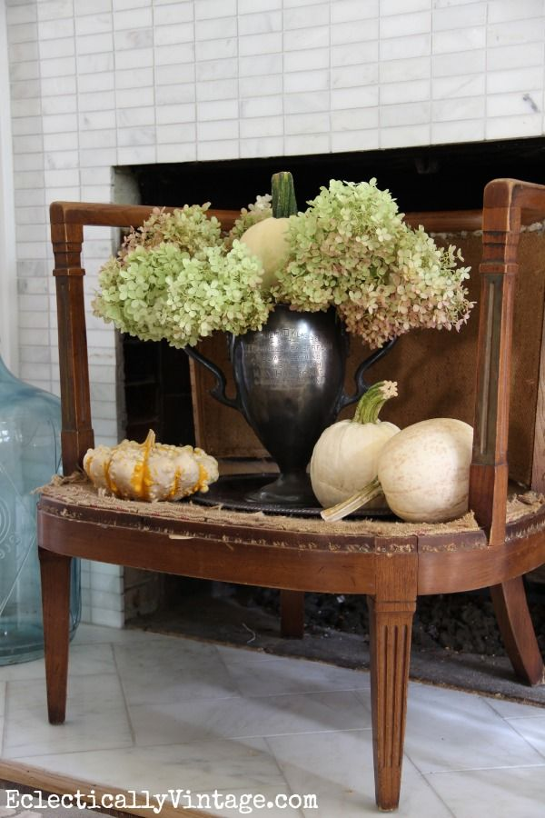 Creative Fall Decorating Ideas Home Tour | Antique chairs ...