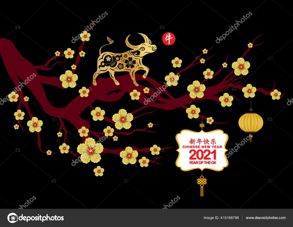 Download Happy Chinese New Year 2021 Zodiac Sign With Ox Chinese Translation Happy Chinese New Year 202 In 2020 Happy Chinese New Year Chinese New Year Zodiac Signs