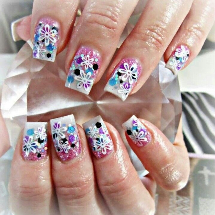 Super girly acrylic nails nails pinterest super girly acrylic nails prinsesfo Gallery
