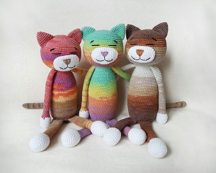 Patrón de crochet gratuito Ami Cat | Unicornios | Pinterest ...