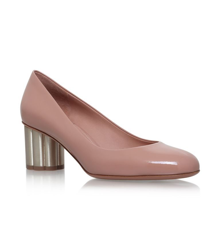 2bfa33ecb4f0 SALVATORE FERRAGAMO Lucca Flower Heel Pumps 55.  salvatoreferragamo  shoes