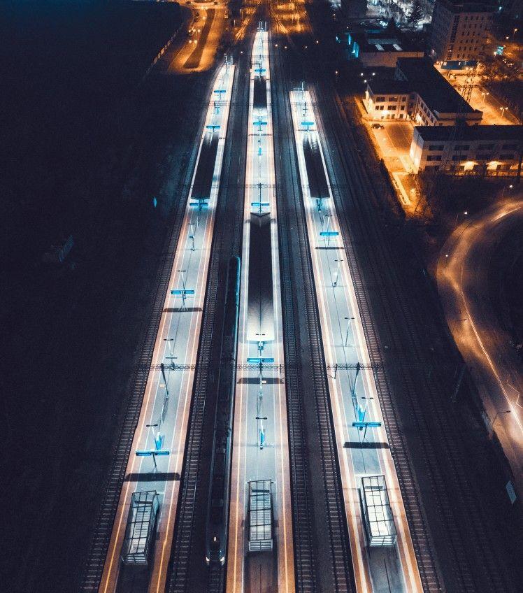 Aerial drone night photography by grzegorz marcinek 2018