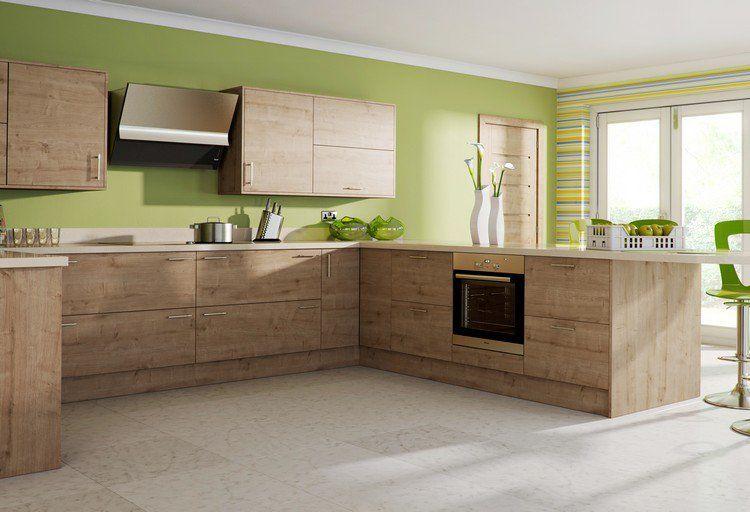 Cuisine moderne bois ch ne 36 exemples remarquables - Cuisine en bois moderne ...