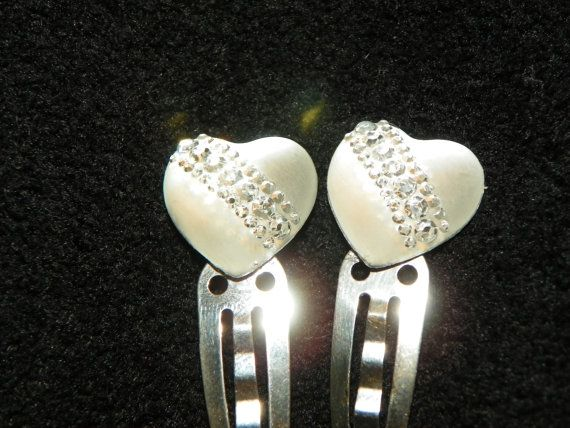 Silver Heart Clips by CathysCreationsPlus on Etsy, $5.00 + 2.50 shipping