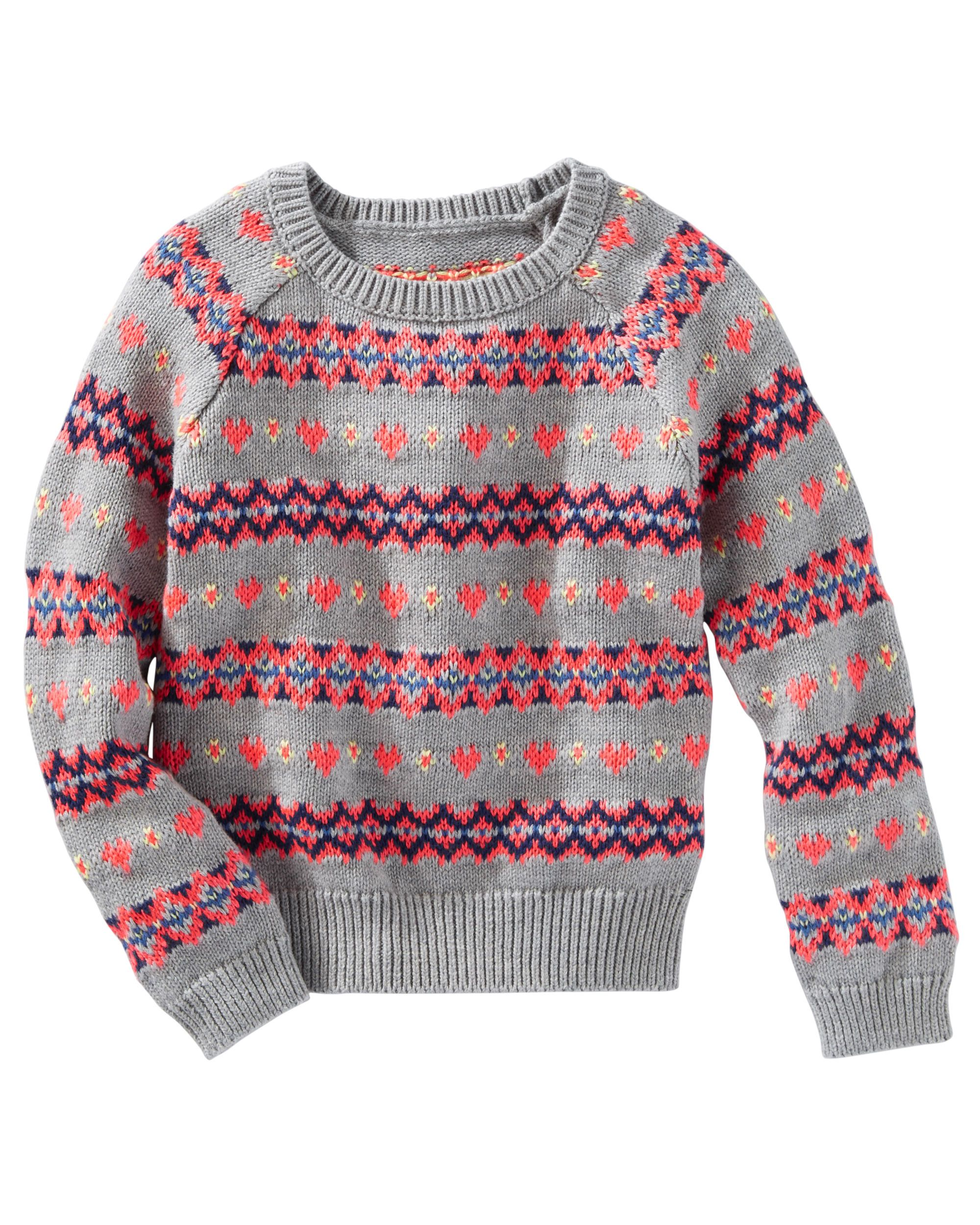 Fair Isle Sweater | Babies clothes, Toddler girls and Babies