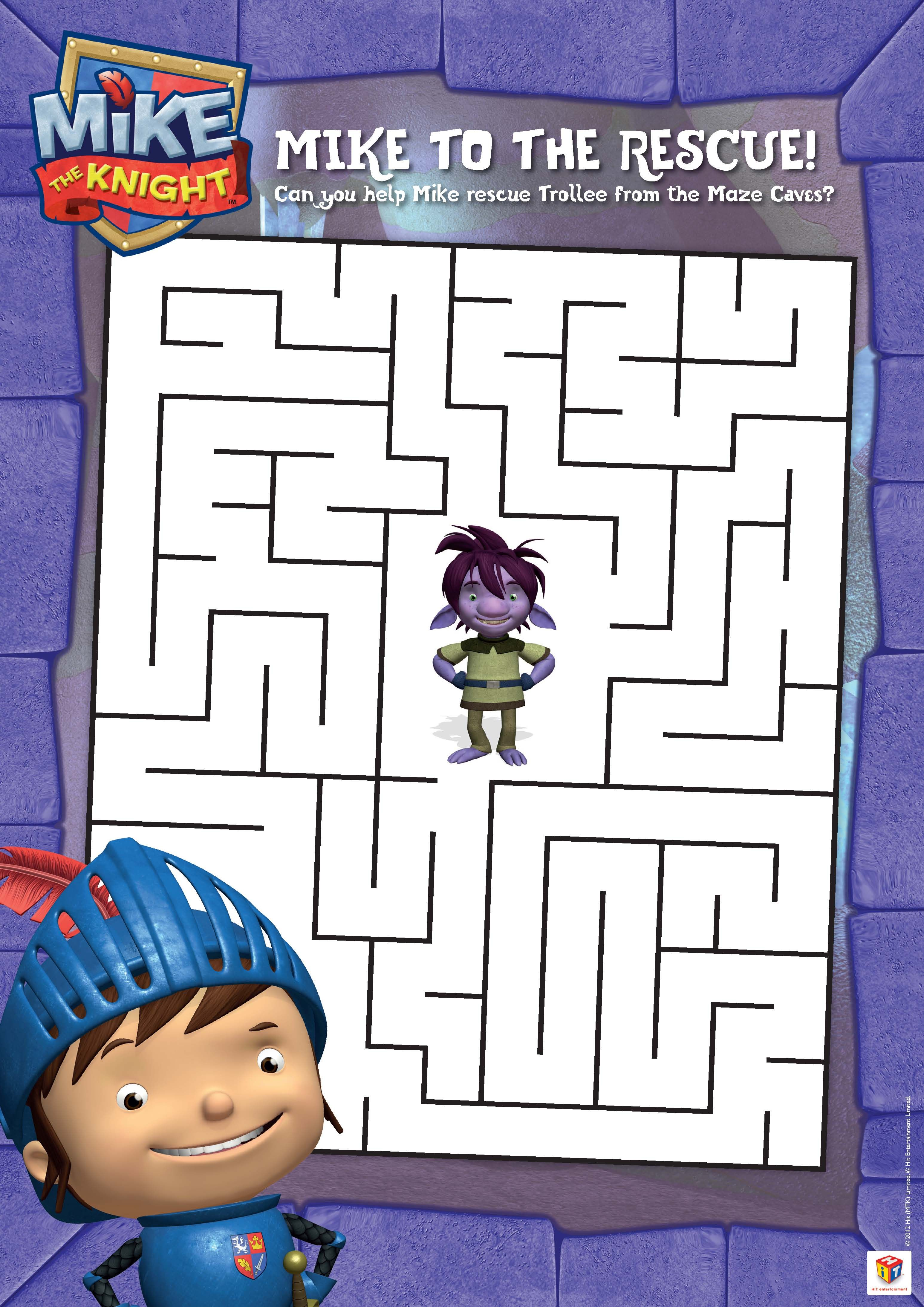 Mike the Knight Maze! | Mike the Knight! | Pinterest | Cumpleaños y ...