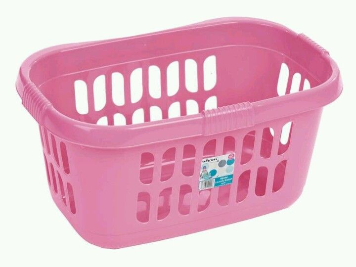 Pink Plastic Laundry Basket Inspiration Pink Laundry Basket  Not Boring Laundry Room  Pinterest  Laundry Design Ideas