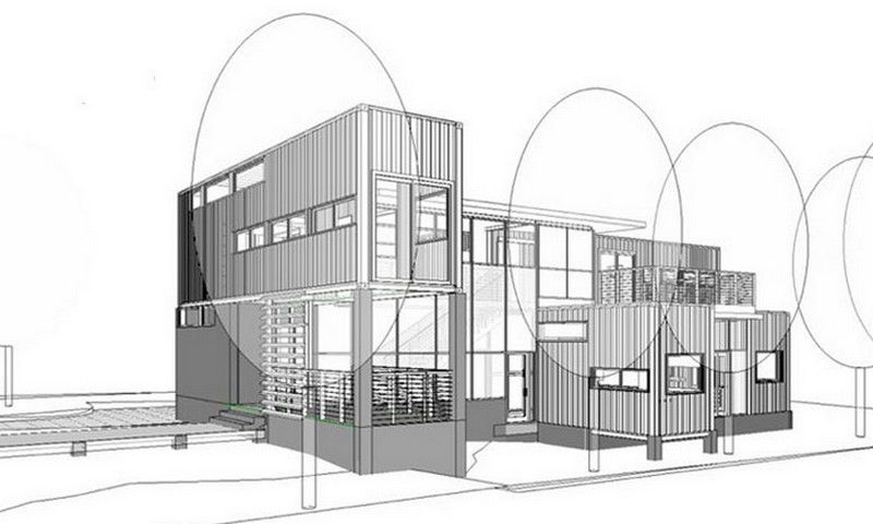Design Container Home Concept Concept Drawing  Glassberg Container Home  Homes Containersmall .