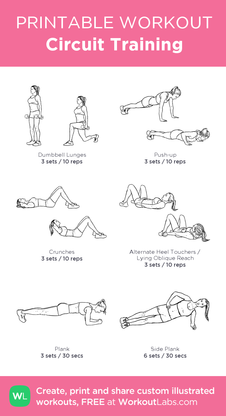 Circuit Training Core Work Workouts 9 Pinterest Workout