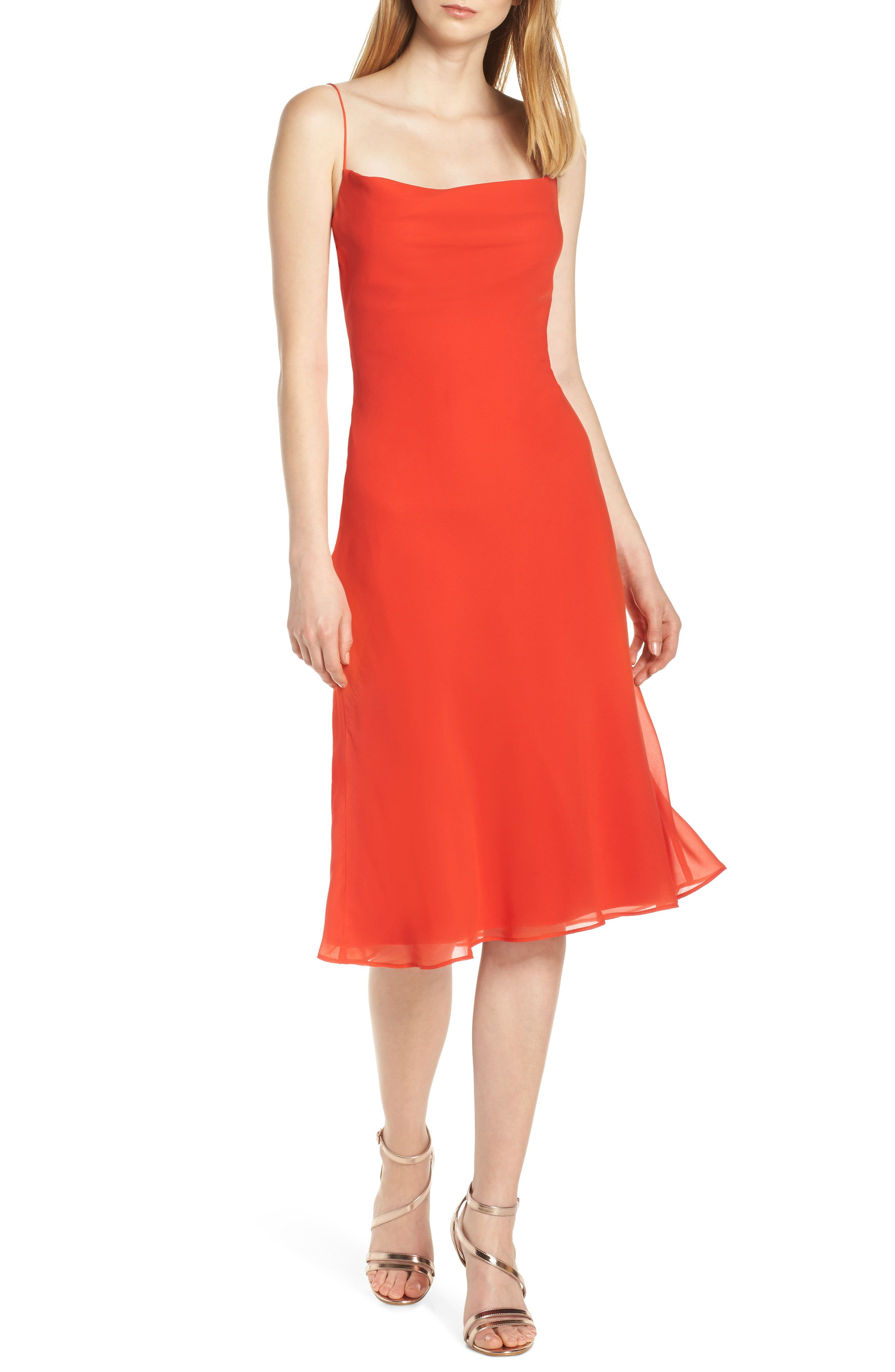 Women S Finders Keepers Nostalgia Back Cutout Slipdress Size X Small Red Fashion Clothes Women Clothes For Women Wedding Guest Dress Trends