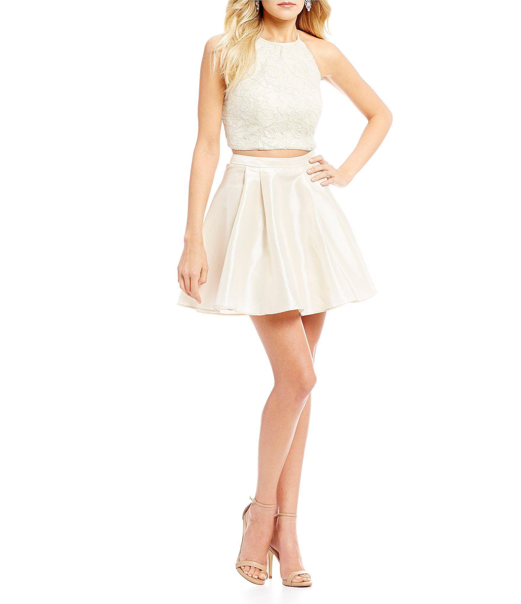Shop for b darlin twopiece foil lace top party dress at dillards