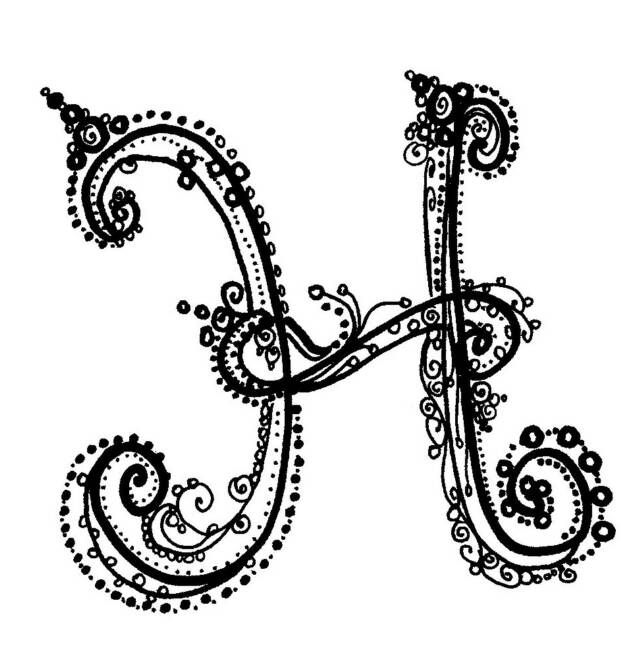 H Letter In Style Fancy Alphabet | Craft...