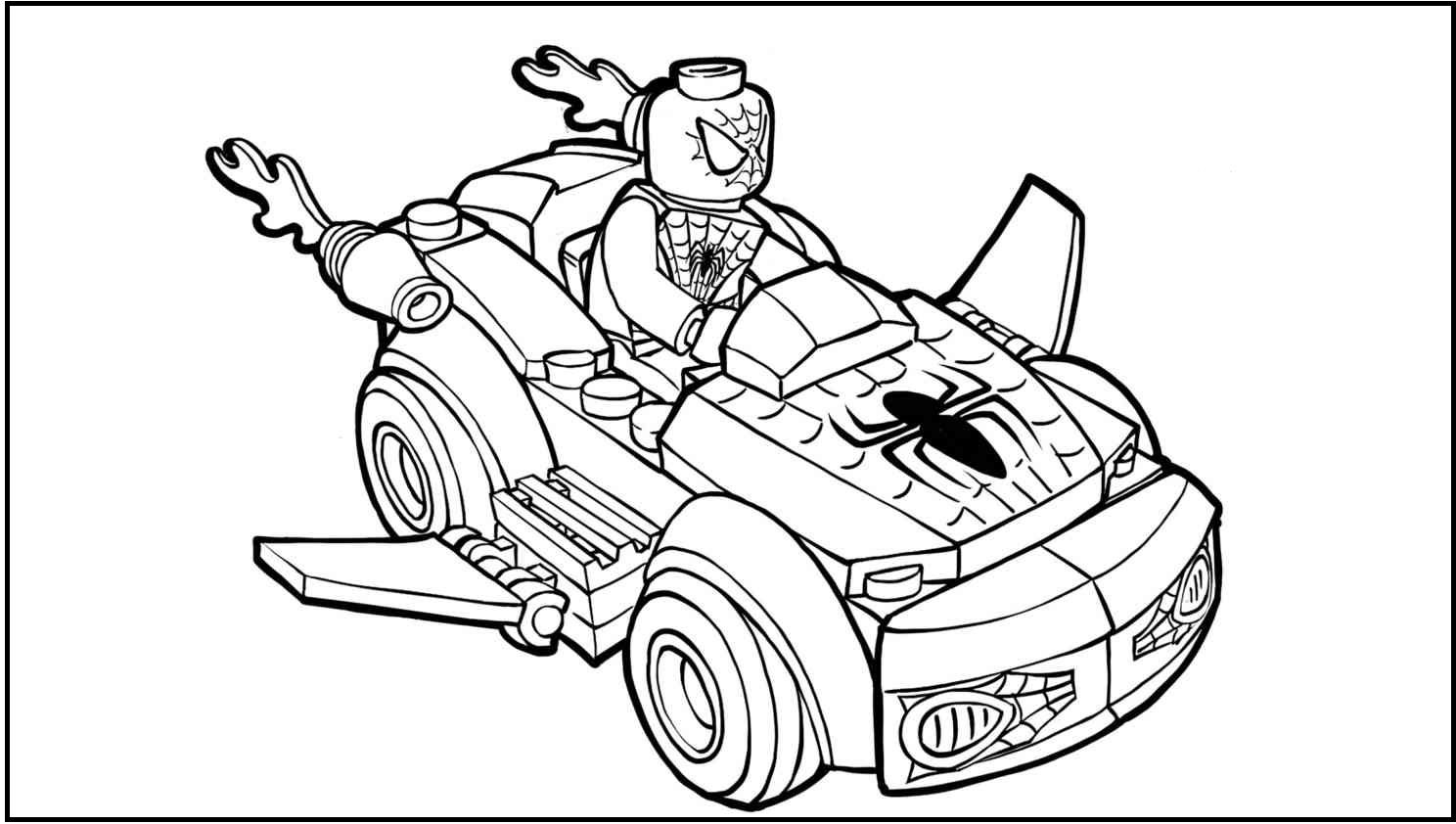 Lego Junior Spiderman Kids Coloring Pages For Kids #fWA