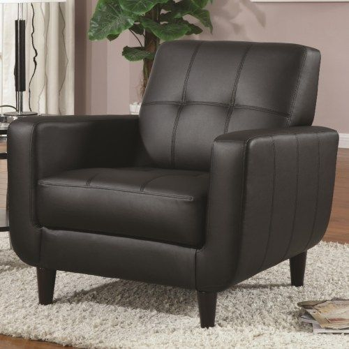 Coaster Accent Seating Accent Chair W/ Round Wood Legs   Coaster Fine  Furniture