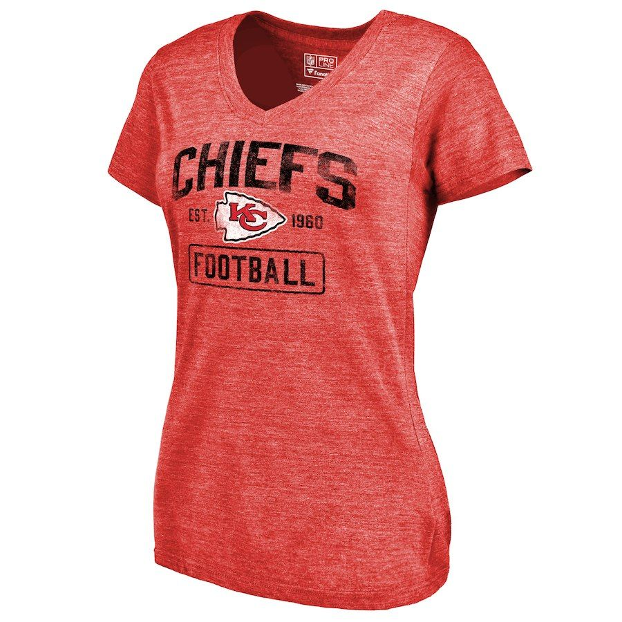 f3cb2759 Women's NFL Pro Line by Fanatics Branded Red Kansas City Chiefs ...
