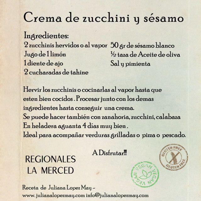 #Receta de Crema de Zucchini y Sésamo! <3 <3 <3