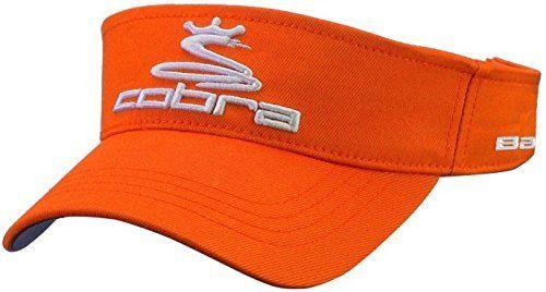 ca3796bb UK Golf Gear - Cobra Pro Tour Mens Golf Visor - Orange | Hats, Caps & Visors  | Mens golf, Golf, Golf Tips