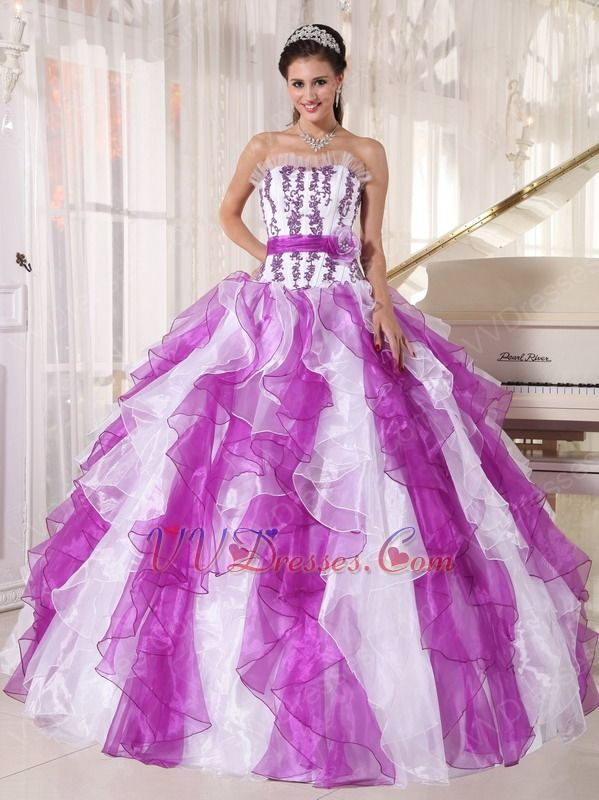 purple and white quinceanera dresses | ... Dresses :: Purple And ...