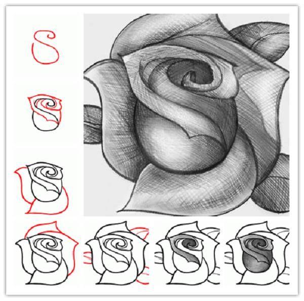 How To Draw A Rose Ikea Decoration Melhor Desenho