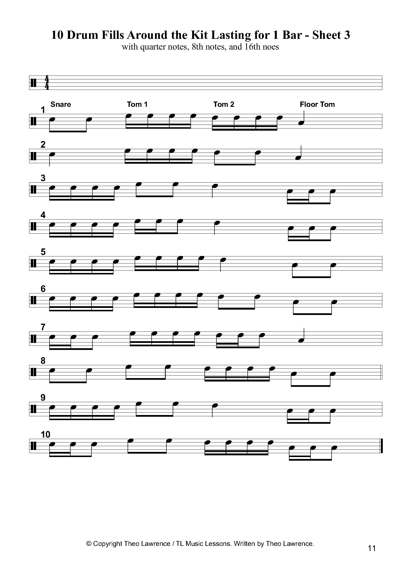 Fills | Drum Lessons