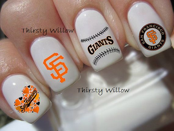 San Francisco Giants Nail Decals by ThirstyWillow on Etsy ...