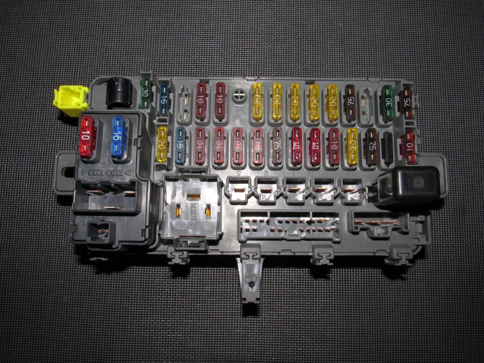94 01 acura integra oem interior fuse box with integration unit rh  pinterest com fuse box
