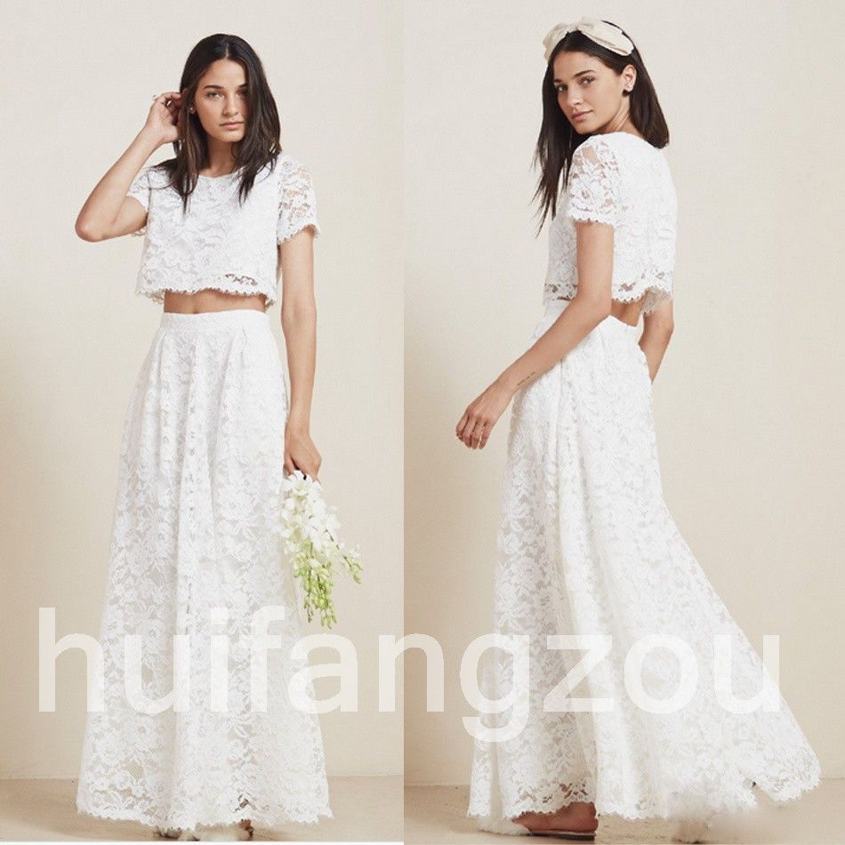 Nice awesome pieces wedding dresses bridal gowns short sleeves