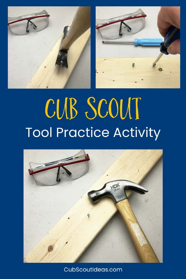 Fun Activity to Teach Cub Scouts How to Use Hand Tools